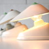 White Bakelite Czechoslovakian Lamps 2