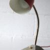1950s Red Grey Desk Lamp 1
