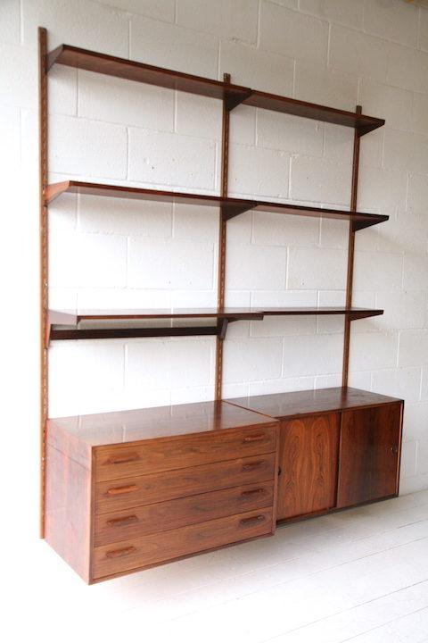 1960s Rosewood Shelving System by Kai Kristiansen 3