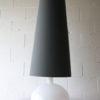 Large Glass Lamp & Grey Shade