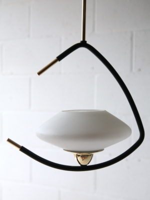 Vintage 1950s French Lunel Ceiling Light 3