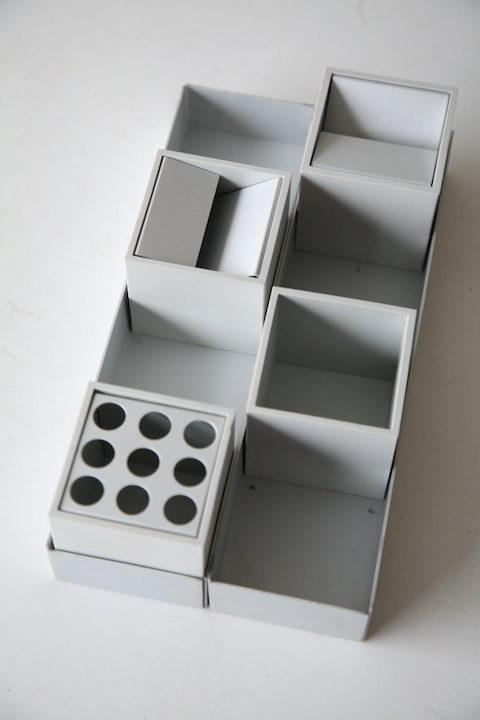 Vintage 'Cubo' Desk Organiser by Bruno Munari