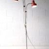 1970s Double Red Floor Lamp