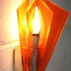 1970s Orange Plastic Wall Light 1