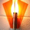 1970s Orange Plastic Wall Light 3
