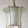 Green 1950s Lantern Ceiling Light 1