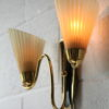 Pair of 1950s Glass Wall Lights