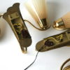 Pair of 1950s Glass Wall Lights 3