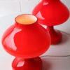 Pair of 1970s Glass Lamps