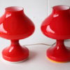 Pair of 1970s Glass Lamps 2