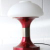 Red 1970s Glass Table Lamp