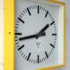 Vintage Yellow Pragotron Wall Clock