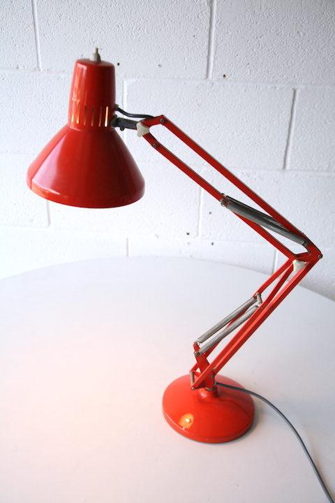 1970s Swedish Orange Anglepoise Lamp