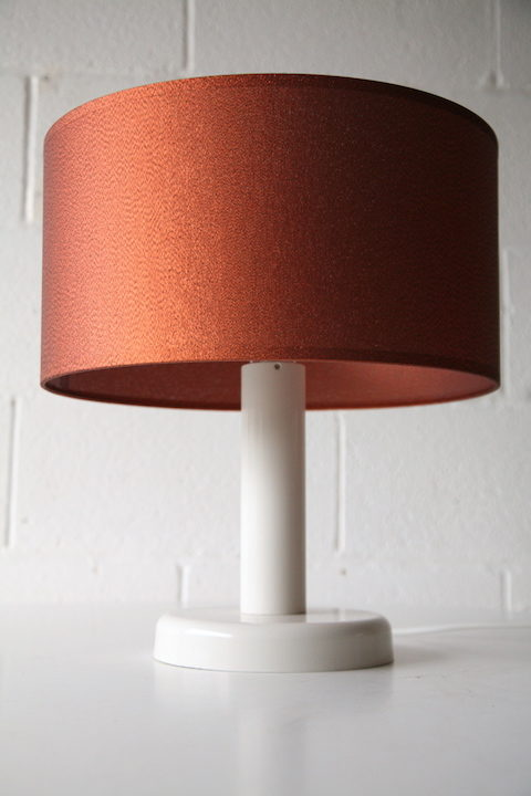 1970s White Table Lamp