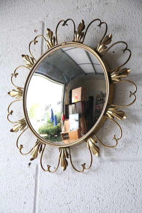 Vintage 1950s Convex Mirror