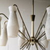 1950s French Glass Chandelier 3