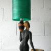 Rare Vintage Chalkware Lady Lamp 1945 1