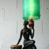 Rare Vintage Chalkware Lady Lamp 1945 5