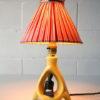 1950s Ceramic Lamp and Shade 6