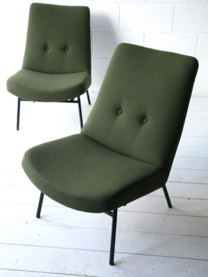 Pair of 1950s SK660 Chairs by Pierre Guariche