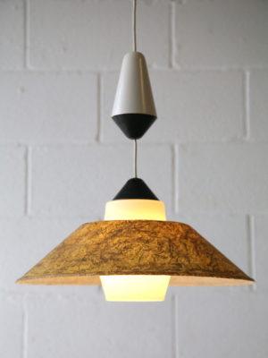 Rare 1950s Fibreglass Ceiling Light by Phillips 3