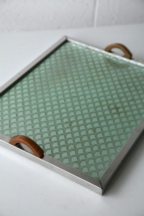 Vintage Art Deco Metal Tray