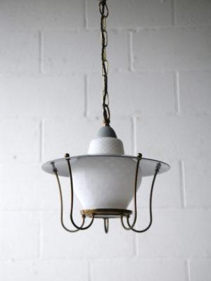 1950s Grey Lantern Ceiling Light 5