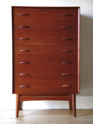 Large 1960s Danish Teak Chest of Drawers 1