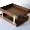 Vintage Teak Filing Trays 3