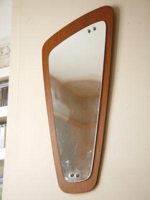 1960s Abstract Teak Mirror 2