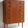 1960s Teak Walnut Chest of Drawers 2