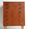 1960s Teak Walnut Chest of Drawers 5