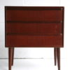 Small 1960s Teak Chest of Drawers 3