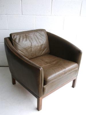 1960s Danish Leather Chair 1
