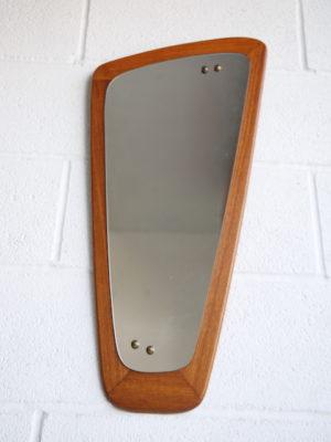 1960s Abstract Teak Mirror