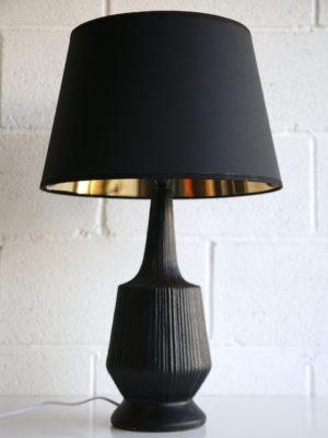 1960s Large Black Table Lamp