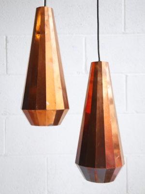 Pair of CL-16 Copper Lights by David Derksen
