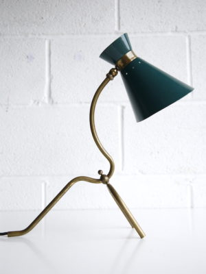 1950s French Brass Table Lamp 1