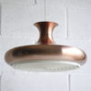 1960s Brushed Copper Ceiling Light