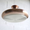 1960s Brushed Copper Ceiling Light 4