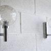 1970s Chrome Glass Wall Lights 4