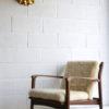 1970s Gold Flower Wall Light