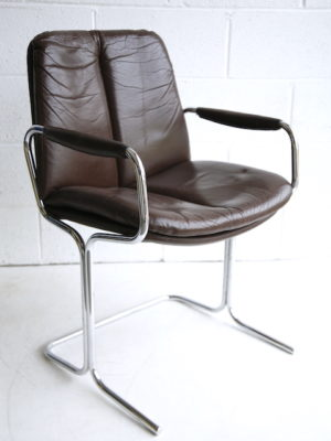 1970s Leather Armchair by Pieff 1