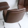 1970s Leather Dining Chairs by Pieff 2