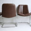 1970s Leather Dining Chairs by Pieff 4