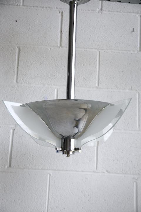 Art Deco Chrome Ceiling Light