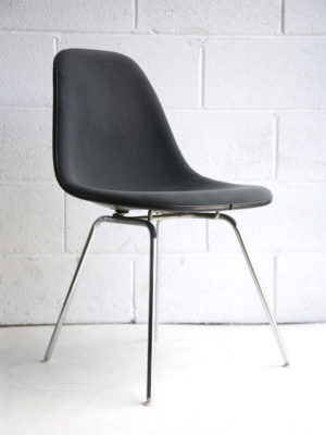 Herman Miller Upholstered DSR Shell Chair by Charles Eames
