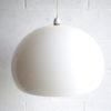 Large 1970s White Mushroom Ceiling Light 1