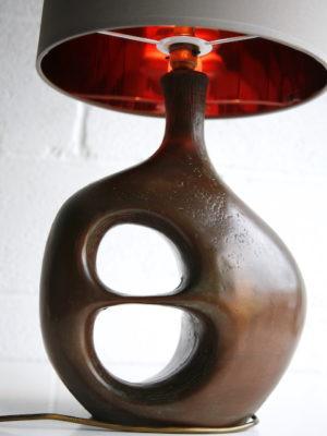 Large Vintage Bronze Table Lamp 4