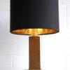 Vintage Brass Oak Table Lamp